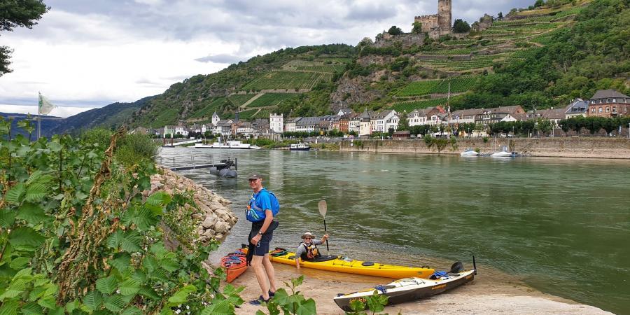 3-tägige Gepäcktour auf dem Rhein - 1. Tag
